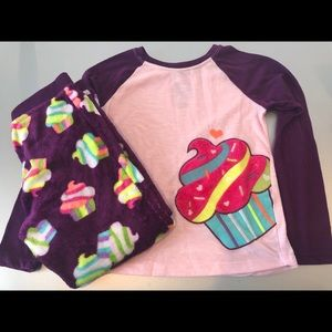 Girls cupcake pajama set